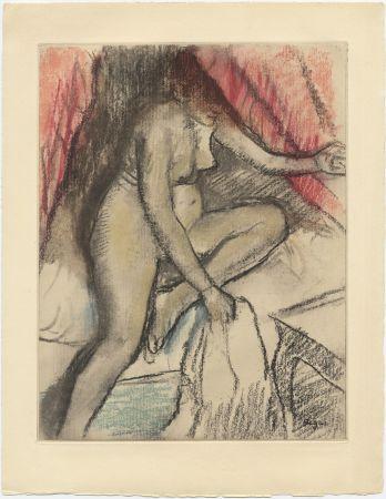 Acquaforte E Acquatinta Degas - Étude de nu (vers 1880)
