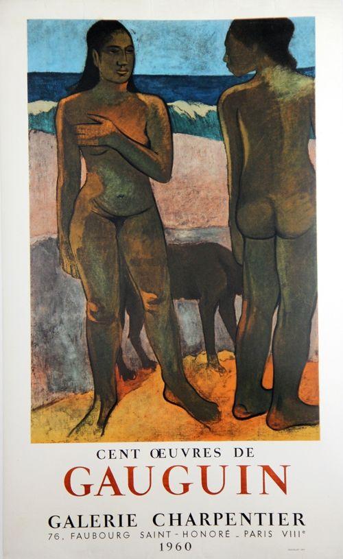 Litografia Gauguin - 100 Oeuvres de Gaugin Galerie Charpentier