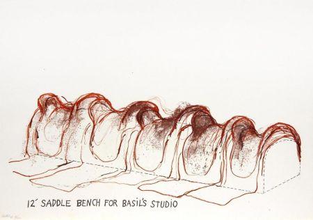 Litografia Dine - 12' Saddle Bench for Basil's Studio
