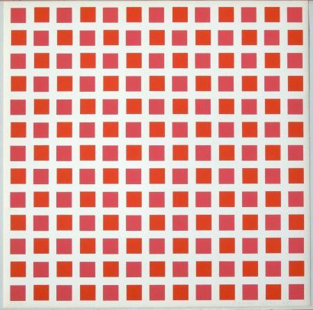 Serigrafia Morellet - 1 carré rouge 1 carré orange