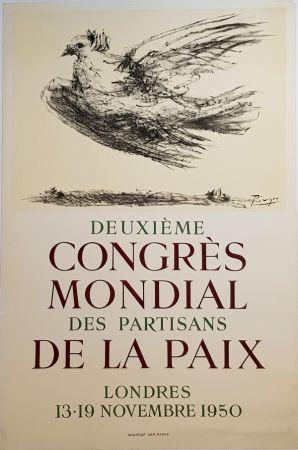 Litografia Picasso - 2e Congres Mondial des Partisans de la Paix