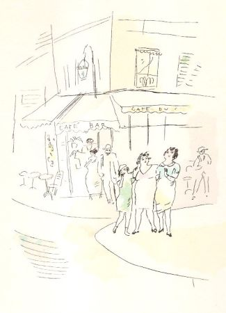 Libro Illustrato Pascin - 3 petites filles dans la rue.  Dessins en couleurs de Pascin