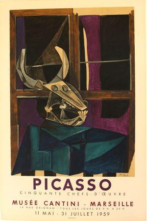 Litografia Picasso - 50  Chefs   D'oeuvres  Musee Cantini