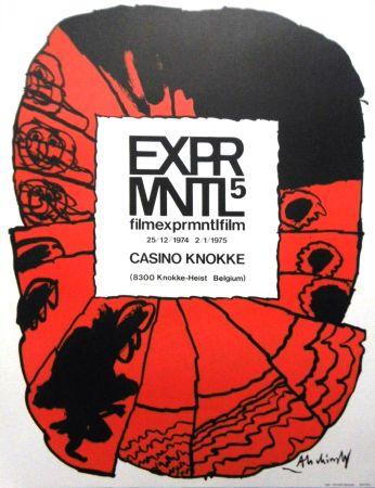 Litografia Alechinsky - '' 5e Festival du Film Expérimental de Knokke ''
