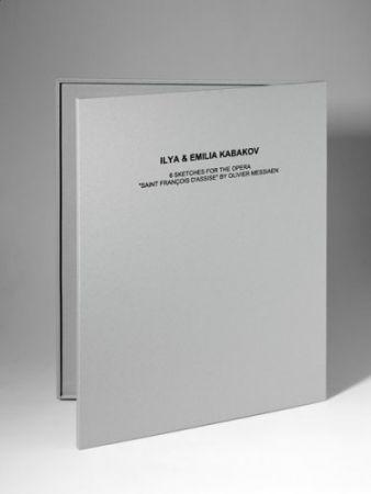 Litografia Kabakov - 6 Sketches for the Opera Saint François Assise