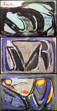 Libro Illustrato Van Velde - 7 Lithographies pour le Catalogue Galerie Krugier n°1 (1962)