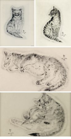 Libro Illustrato Foujita - A BOOK OF CATS. being Twenty Drawings by Foujita. New York 1930
