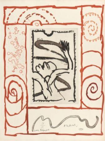 Litografia Alechinsky - A bras de corps