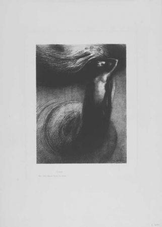 Litografia Redon - A Gustave Flaubert