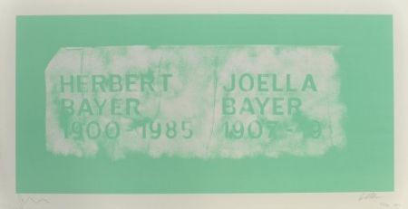 Litografia Myles - A History Of Type Design / Herbert Bayer, 1900-1985 (Aspen, Usa)