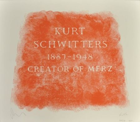 Litografia Myles - A History Of Type Design / Kurt Schwitters, 1887-1948 (Ambleside, England)