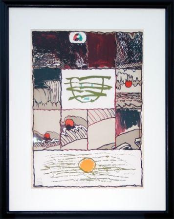 Litografia Alechinsky - A l'imprimerie (1967)