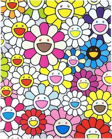 Litografia Murakami - A Little Flower Painting I