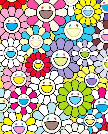 Litografia Murakami - A Little Flower Painting II