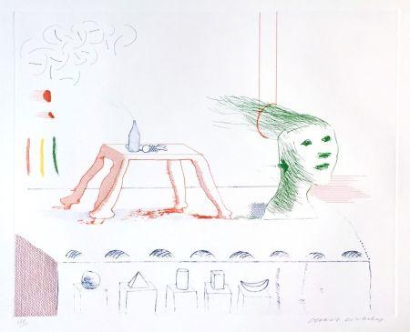 Acquatinta Hockney - A Moving Still Life, The Blue Guitar