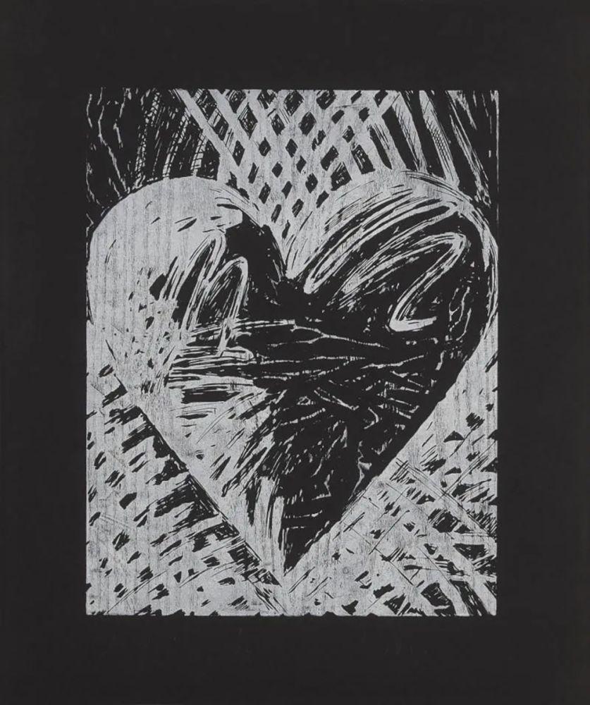 Incisione Su Legno Dine - A Night Woodcut