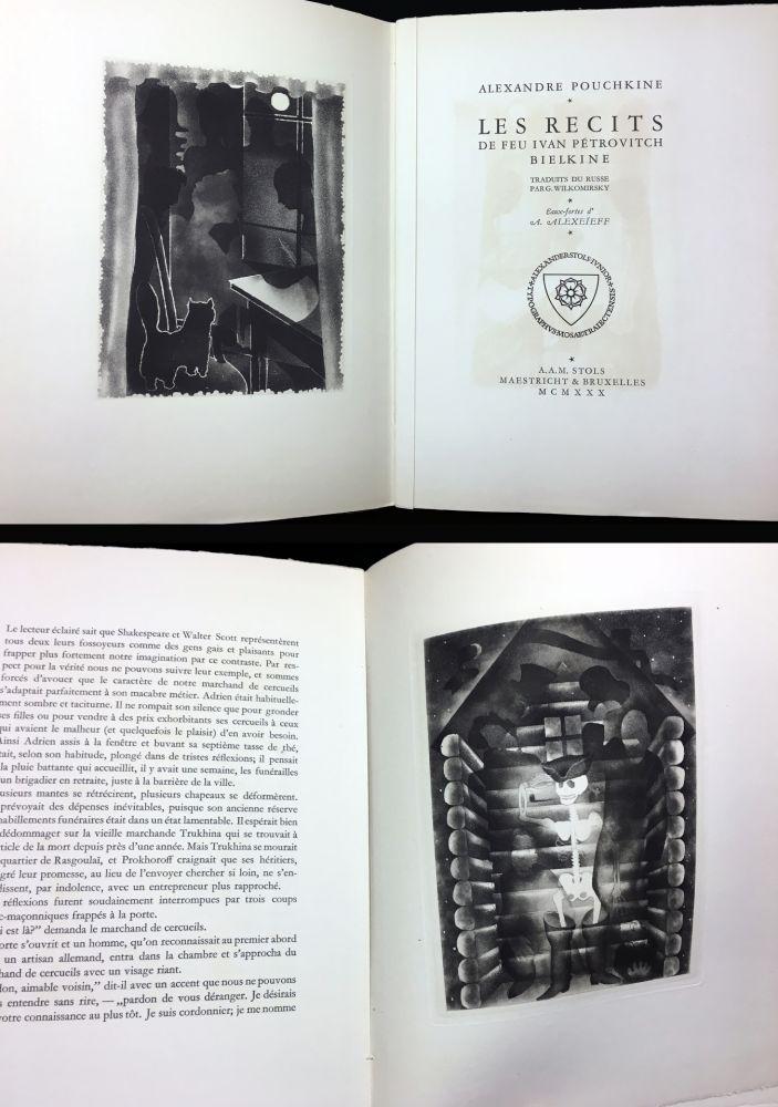 Libro Illustrato Alexeïeff - A. Pouchkine : Les Récits de feu Ivan Pétrovitch Bielkine (1930)