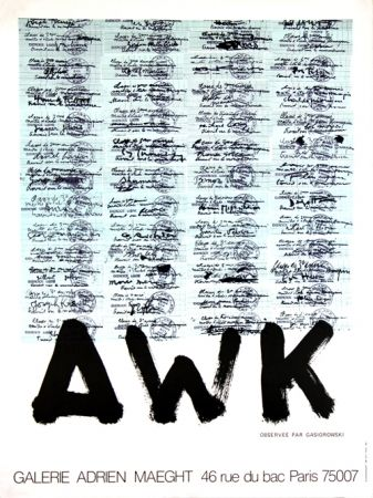 Litografia Gasiorowski - A W K   Galerie Maeght