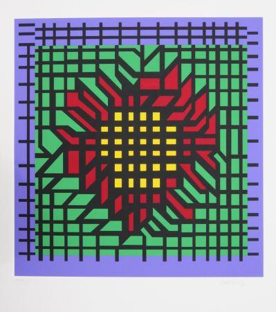 Serigrafia Vasarely - Abstract Composition