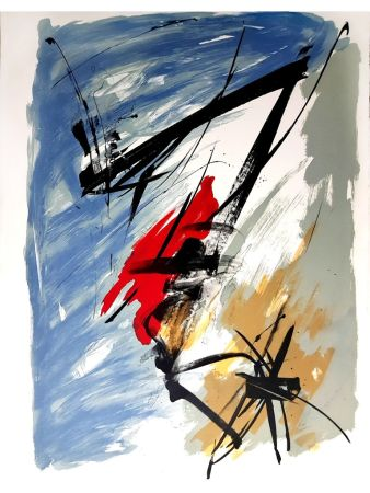 Litografia Miotte - Abstract Composition