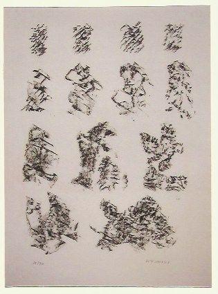 Litografia Michaux - Abstract composition VI