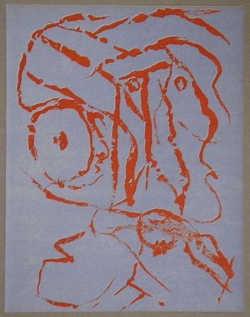 Litografia Alechinsky - Abstract head