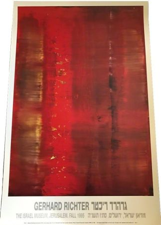 Manifesti Richter - Abstract painting (red, blurred)