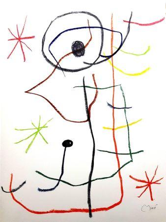 Litografia Miró - Abstraction