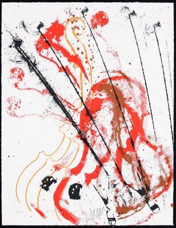 Serigrafia Arman - Accords à cordes III