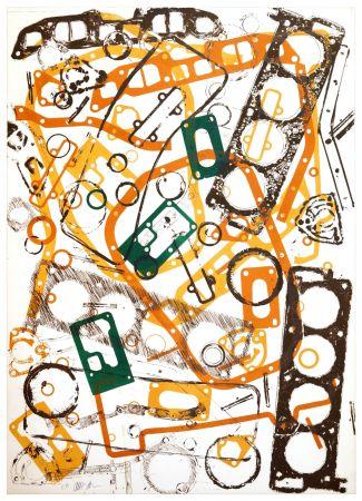 Litografia Arman - Accumulation Renault