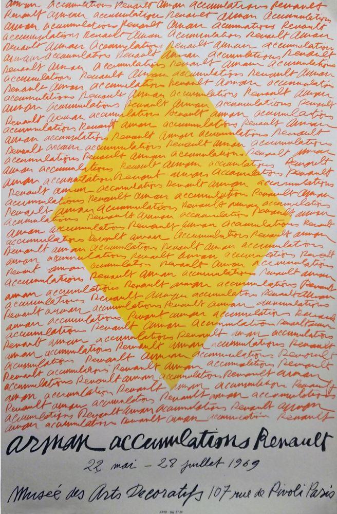 Litografia Arman - '' Accumulations RENAULT ''