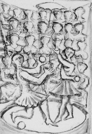 Litografia Campigli - Acrobati