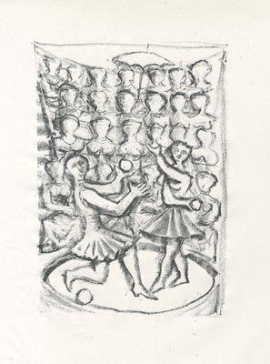 Litografia Campigli - Acrobati (Theseus)