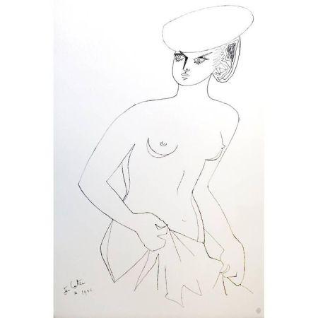 Litografia Cocteau - Actrice