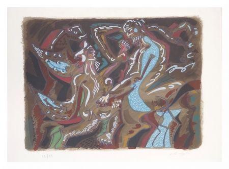 Litografia Masson - Adam Et Eve