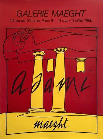 Litografia Adami - ADAMI 80 : Affiche en lithographie originale pour l'exposition Galerie Maeght.