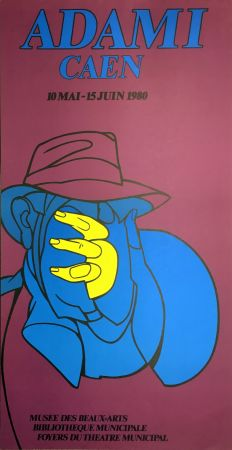 Litografia Adami - ADAMI CAEN 1980 : Affiche en lithographie originale.