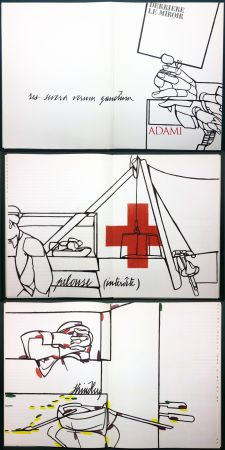Libro Illustrato Adami - ADAMI. Le voyage du dessin. DERRIÈRE LE MIROIR N° 214. Mai 1975.
