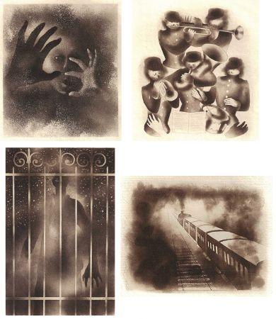 Libro Illustrato Alexeïeff - ADRIENNE MESURAT. Exemplaire avec 68 dessins originaux au crayon tous signés par Alexeieff.