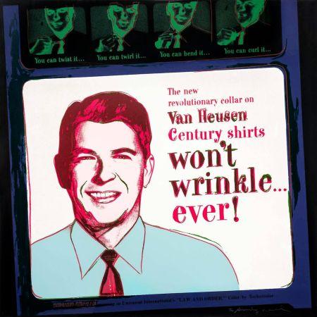 Serigrafia Warhol - ADS: VAN HEUSEN (RONALD REAGAN) FS II.356
