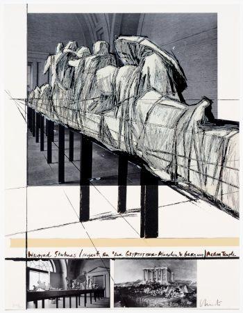 Serigrafia Christo - Aegena Temple Project for Munich Glyptotek