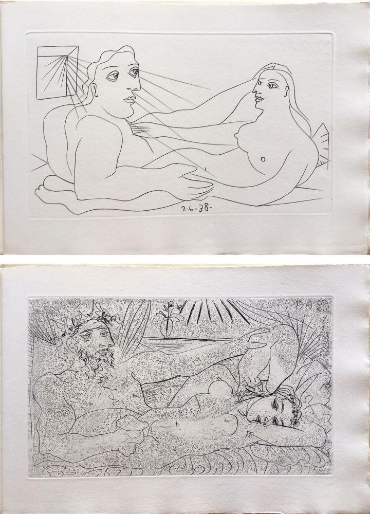 Libro Illustrato Picasso - AFAT. Soixante-seize sonnets (1939).