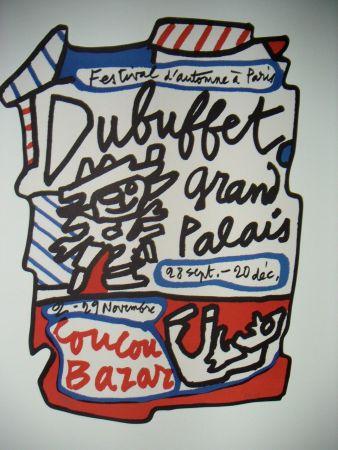 Litografia Dubuffet - Affiche Coucou Bazar