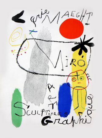 Litografia Miró - Affiche d'Exposition Galerie Maeght