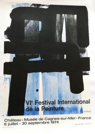 Litografia Soulages - Affiche expo 74