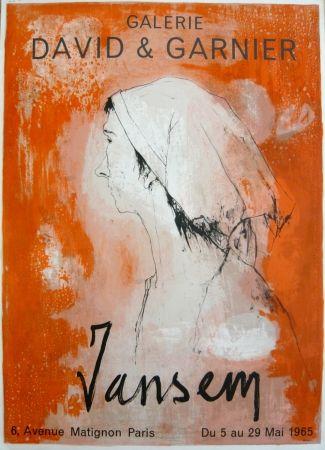 Manifesti Jansem - Affiche exposition galerie David & Garnier