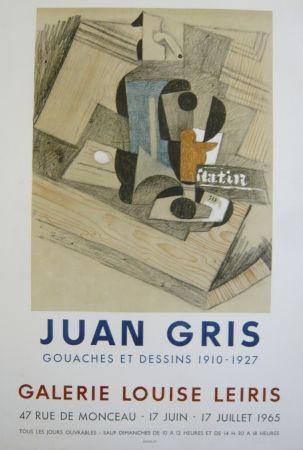 Manifesti Gris  - Affiche exposition  galerie Louise Leiris