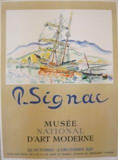 Manifesti Signac - Affiche exposition Musée d'art moderne