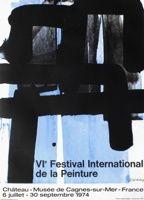 Litografia Soulages - Affiche lithographie exposition cagnes/mer