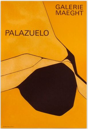 Manifesti Palazuelo - Affiche lithographique originale de la Galerie Maeght 1963.